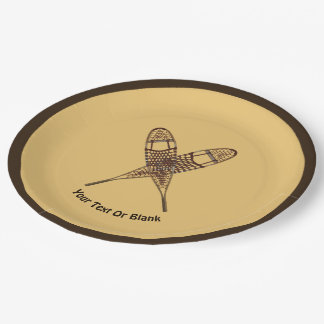 Snowshoes Paper Plate