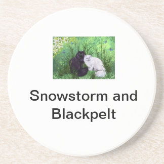 Snowstorm and Blackpelt Beverage Coasters