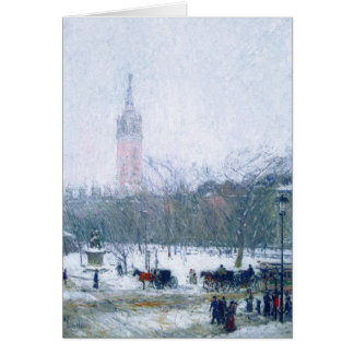 Snowstorm, Madison Square. Customizable Cards