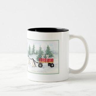 Snowy Adventures Two-Tone Coffee Mug