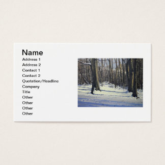 Snowy Afternoon Oil Landscape Painting Business Card