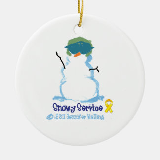 Snowy Air Force Ornament