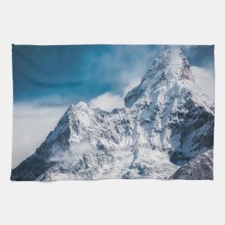 Snowy Ama Dablam Himalayan mountain range Kitchen Towel