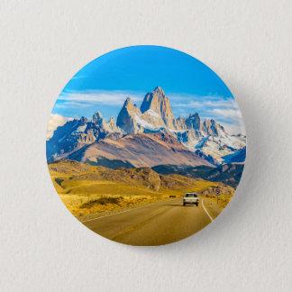Snowy Andes Mountains, El Chalten, Argentina 2 Inch Round Button