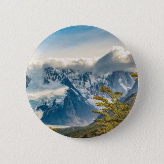 Snowy Andes Mountains, El Chalten Argentina 2 Inch Round Button