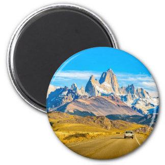 Snowy Andes Mountains, El Chalten, Argentina 2 Inch Round Magnet