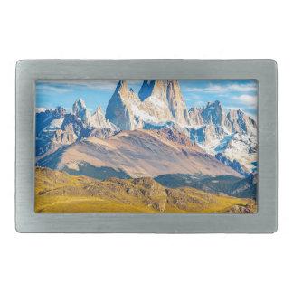 Snowy Andes Mountains, El Chalten, Argentina Belt Buckle