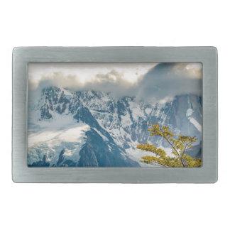 Snowy Andes Mountains, El Chalten Argentina Belt Buckle