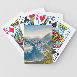 Snowy Andes Mountains, El Chalten Argentina Bicycle Playing Cards