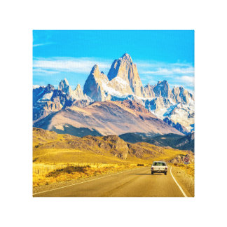 Snowy Andes Mountains, El Chalten, Argentina Canvas Print