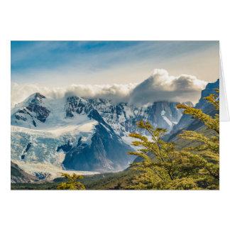 Snowy Andes Mountains, El Chalten Argentina Card