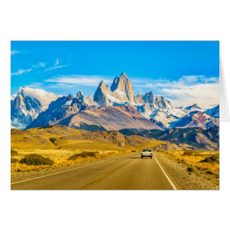 Snowy Andes Mountains, El Chalten, Argentina Card