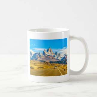Snowy Andes Mountains, El Chalten, Argentina Coffee Mug