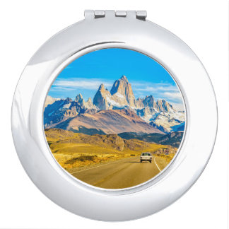 Snowy Andes Mountains, El Chalten, Argentina Compact Mirrors