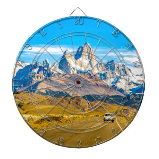 Snowy Andes Mountains, El Chalten, Argentina Dartboard