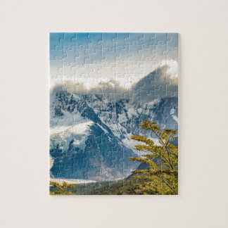 Snowy Andes Mountains, El Chalten Argentina Jigsaw Puzzle