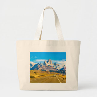 Snowy Andes Mountains, El Chalten, Argentina Large Tote Bag
