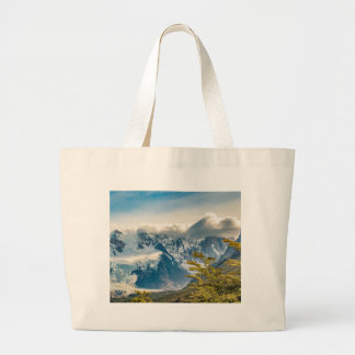 Snowy Andes Mountains, El Chalten Argentina Large Tote Bag