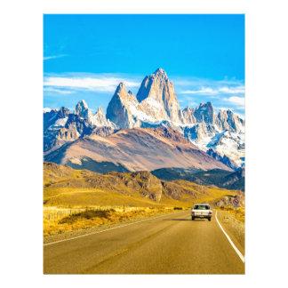 Snowy Andes Mountains, El Chalten, Argentina Letterhead