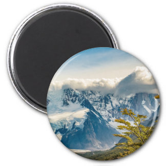 Snowy Andes Mountains, El Chalten Argentina Magnet