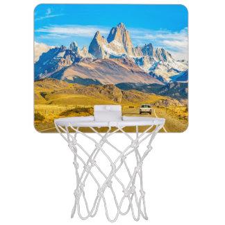 Snowy Andes Mountains, El Chalten, Argentina Mini Basketball Hoop