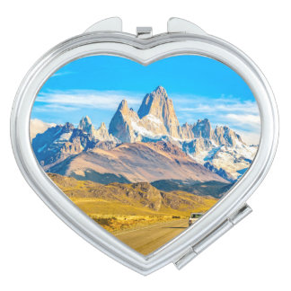 Snowy Andes Mountains, El Chalten, Argentina Mirror For Makeup