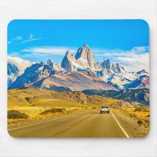 Snowy Andes Mountains, El Chalten, Argentina Mouse Pad