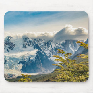Snowy Andes Mountains, El Chalten Argentina Mouse Pad