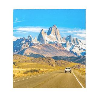 Snowy Andes Mountains, El Chalten, Argentina Notepad