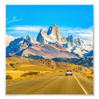 Snowy Andes Mountains, El Chalten, Argentina Photo Print
