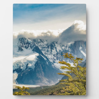 Snowy Andes Mountains, El Chalten Argentina Plaque