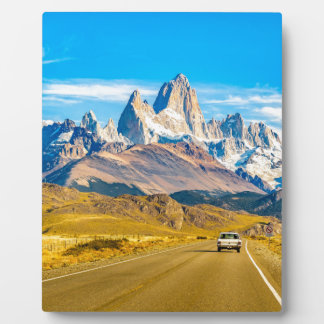 Snowy Andes Mountains, El Chalten, Argentina Plaque