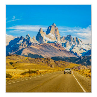 Snowy Andes Mountains, El Chalten, Argentina Poster