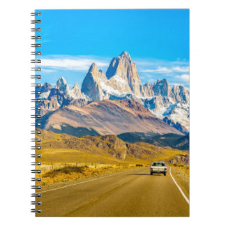 Snowy Andes Mountains, El Chalten, Argentina Spiral Note Books