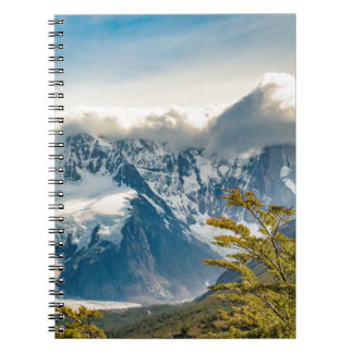 Snowy Andes Mountains, El Chalten Argentina Spiral Notebook