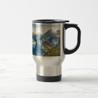 Snowy Andes Mountains, El Chalten Argentina Travel Mug