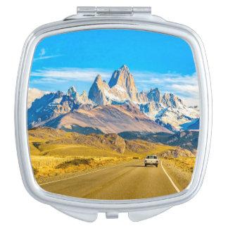 Snowy Andes Mountains, El Chalten, Argentina Vanity Mirrors