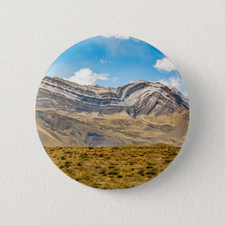 Snowy Andes Mountains Patagonia Argentina 2 Inch Round Button