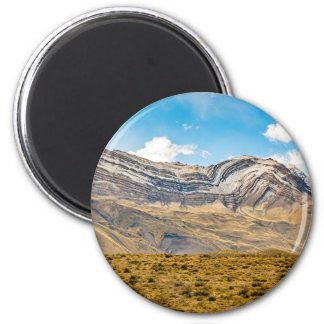 Snowy Andes Mountains Patagonia Argentina 2 Inch Round Magnet