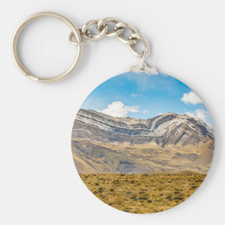 Snowy Andes Mountains Patagonia Argentina Basic Round Button Keychain