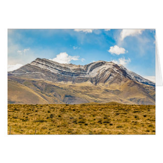 Snowy Andes Mountains Patagonia Argentina Card