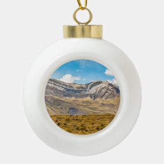 Snowy Andes Mountains Patagonia Argentina Ceramic Ball Christmas Ornament
