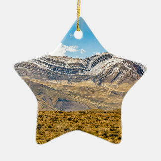Snowy Andes Mountains Patagonia Argentina Ceramic Ornament