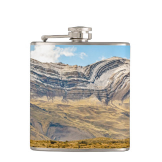 Snowy Andes Mountains Patagonia Argentina Hip Flask