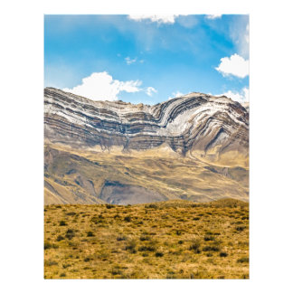 Snowy Andes Mountains Patagonia Argentina Letterhead