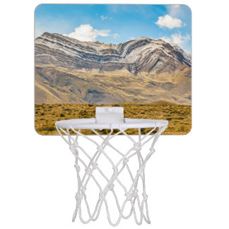 Snowy Andes Mountains Patagonia Argentina Mini Basketball Hoop