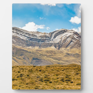 Snowy Andes Mountains Patagonia Argentina Plaque