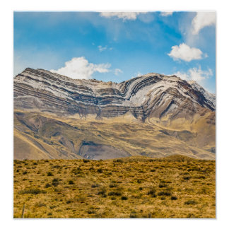 Snowy Andes Mountains Patagonia Argentina Poster