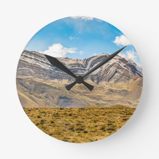 Snowy Andes Mountains Patagonia Argentina Round Clock