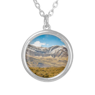 Snowy Andes Mountains Patagonia Argentina Silver Plated Necklace